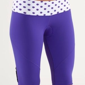 Lulu Lemon Presta Padded Purple Cycling Shorts💜